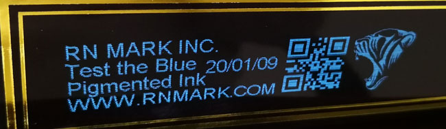 Blue industrial inkjet printer ink