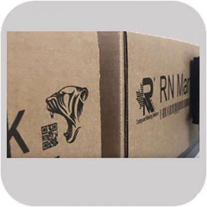 RN Mark E1-72N printing on boxes