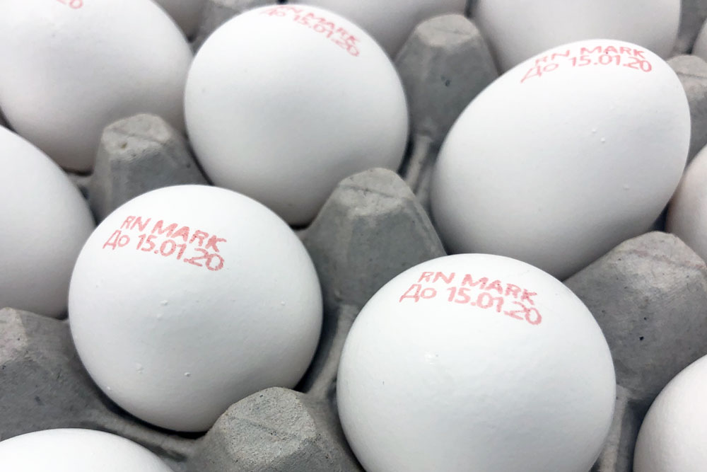 Printing and marking on eggs
