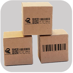 Printing with industrial printers on boxes