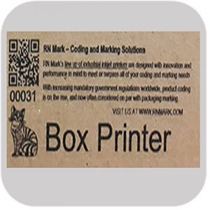 E1-140 printing on Cardboard