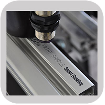 Industrial printing on Aluminum Extrusion