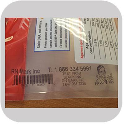 Industrial printing on flexible plastic film