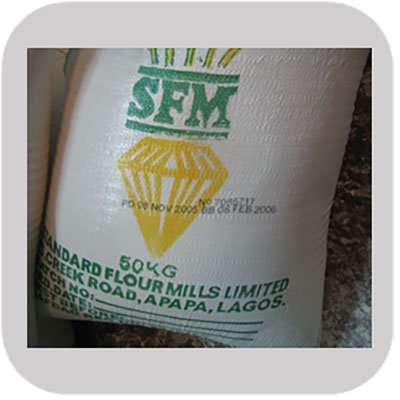Industrial printing on Flour