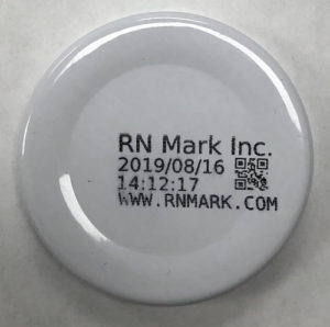 Industrial thermal inkjet coding and marking on bottle cap