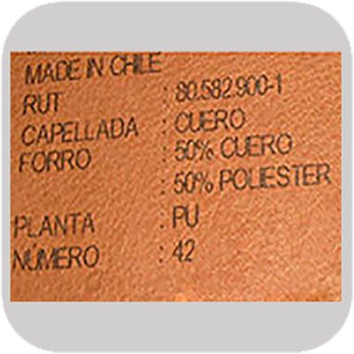 industrial printing on Leather