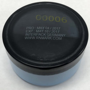 Industrial thermal inkjet marking on hand cream container