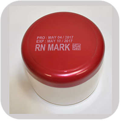 Industrial Marking and Printing on plastic cosmetic container