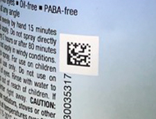 QR code printed on sun screen spray
