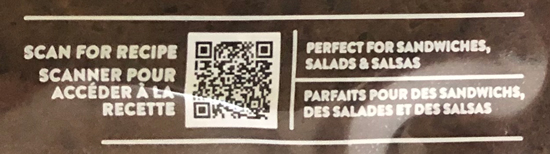 QR code printed on product packaging