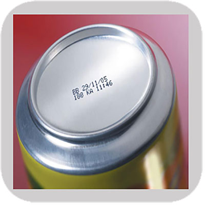 Industrial printing on Cans