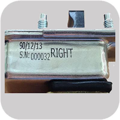 Industrial marking on metal parts